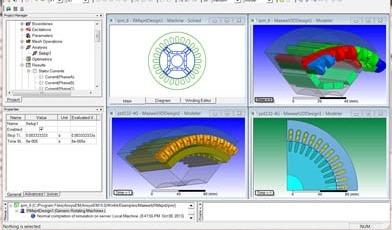工业电磁场仿真软件ANSYS maxwell电机分析软件